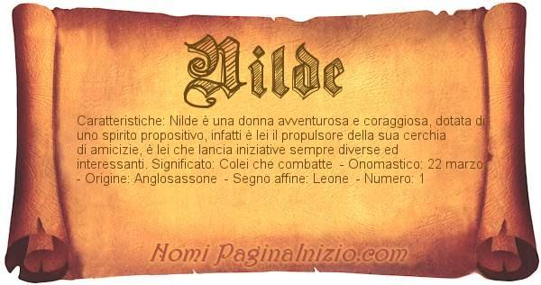 Nome Nilde