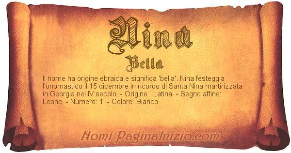Nome Nina