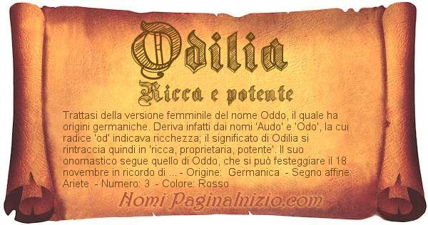 Nome Odilia
