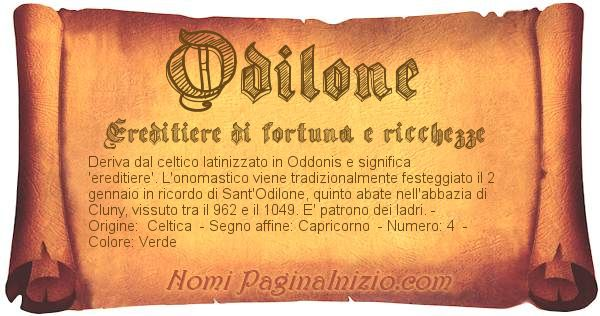 Nome Odilone