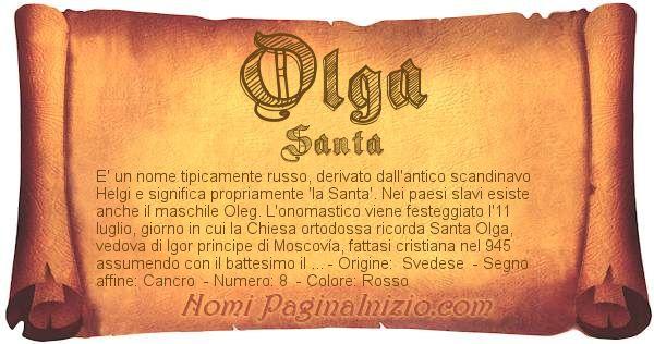 Nome Olga