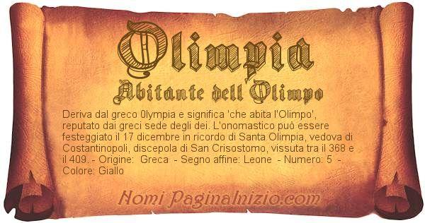Nome Olimpia