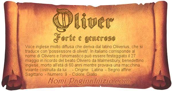 Nome Oliver