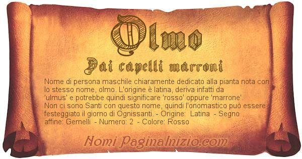Nome Olmo
