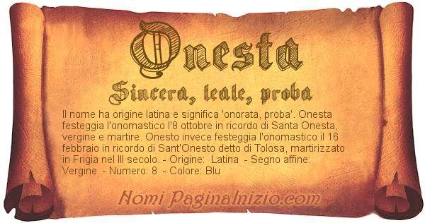 Nome Onesta