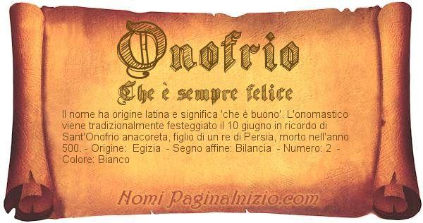 Nome Onofrio