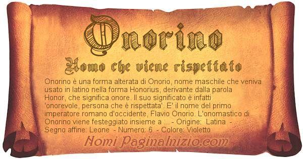 Nome Onorino