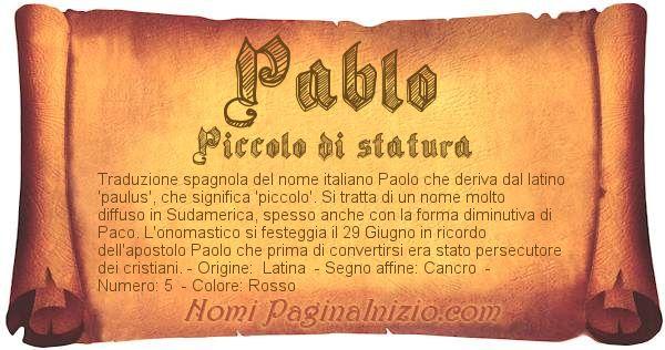 Nome Pablo
