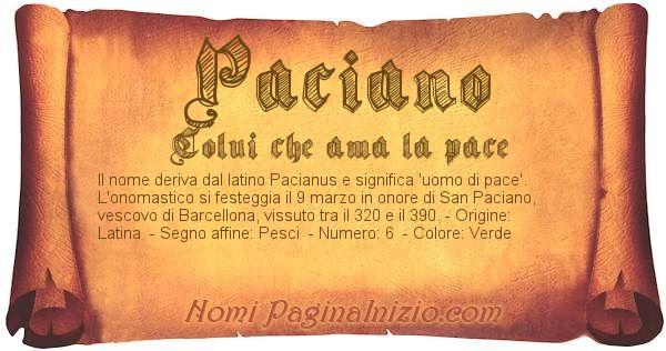 Nome Paciano