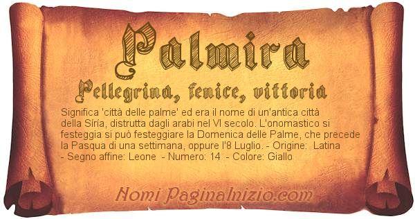 Nome Palmira