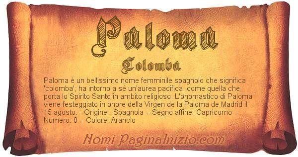 Nome Paloma