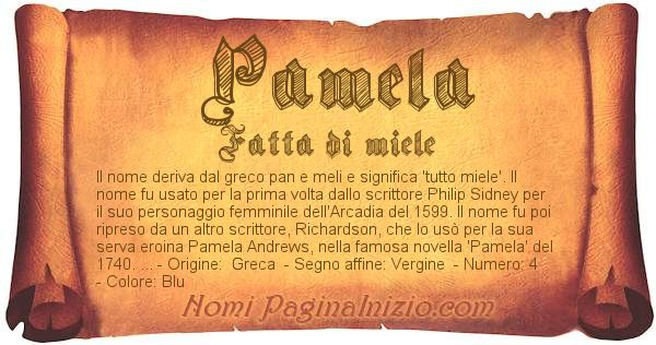 Nome Pamela