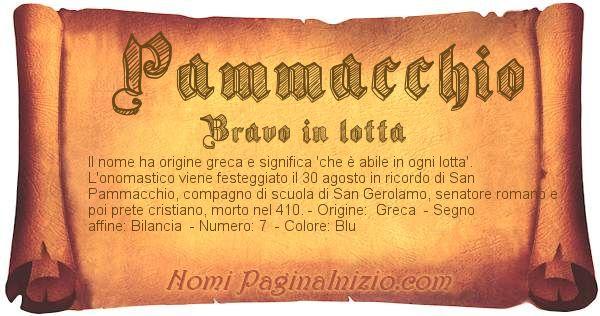 Nome Pammacchio