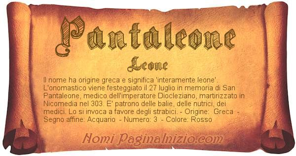 Nome Pantaleone