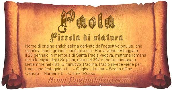 Nome Paola