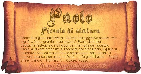 Nome Paolo