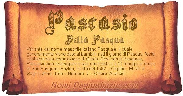 Nome Pascasio