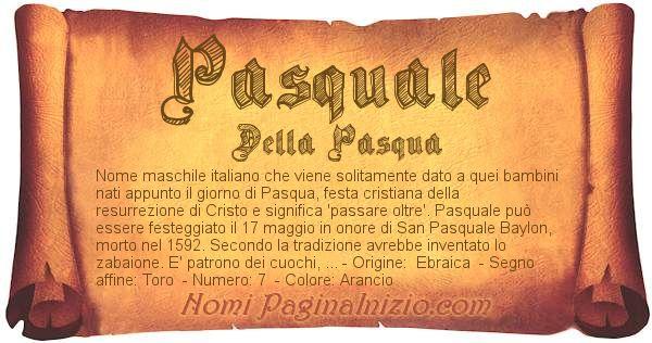 Nome Pasquale
