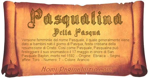 Nome Pasqualina
