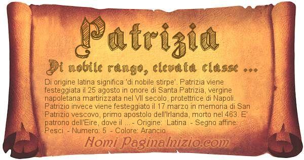 Nome Patrizia