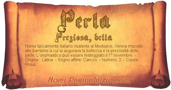 Nome Perla