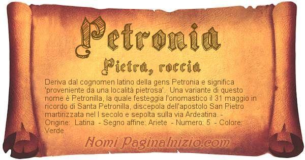 Nome Petronia