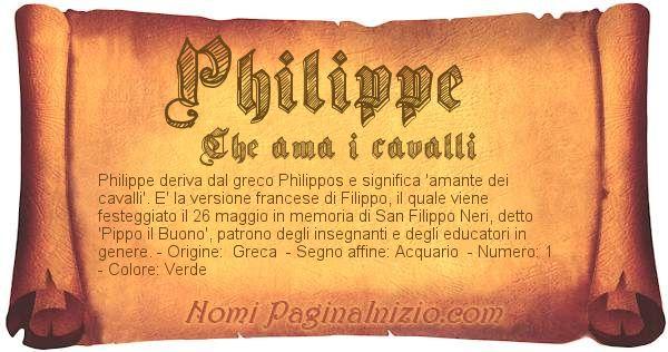 Nome Philippe