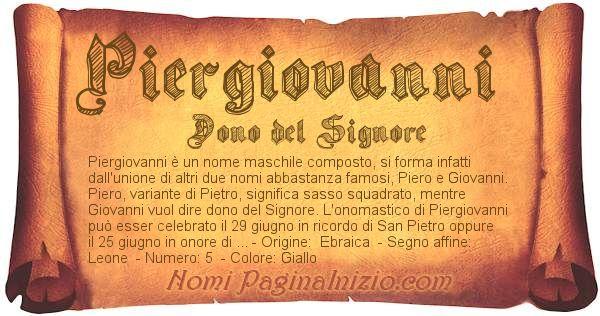 Nome Piergiovanni