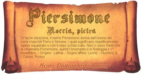 Nome Piersimone