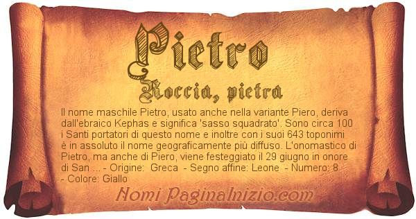 Nome Pietro