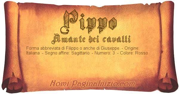 Nome Pippo