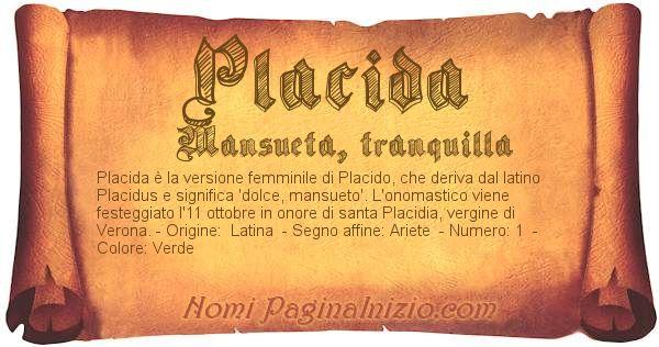 Nome Placida
