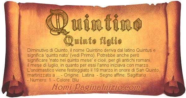 Nome Quintino