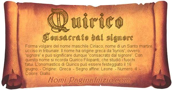 Nome Quirico