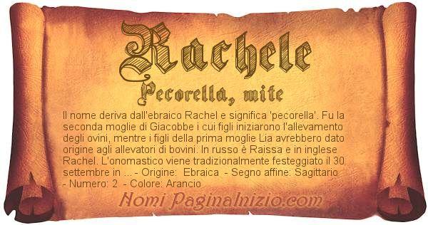 Nome Rachele