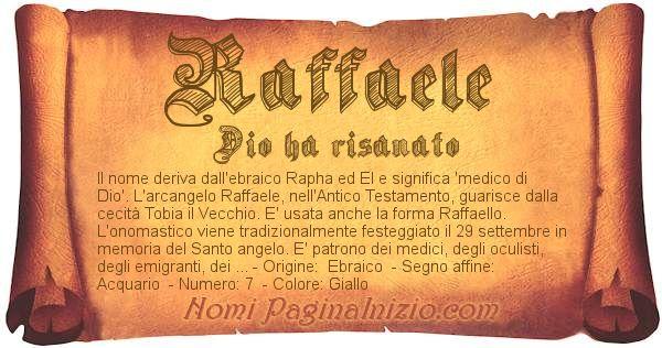 Nome Raffaele
