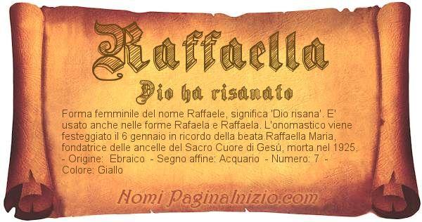 Nome Raffaella
