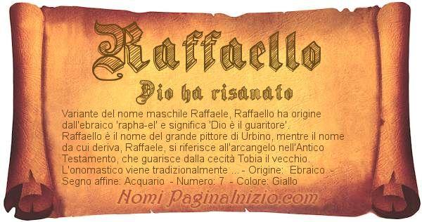 Nome Raffaello