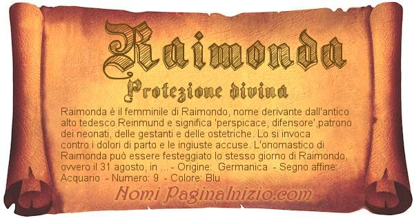 Nome Raimonda