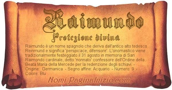 Nome Raimundo