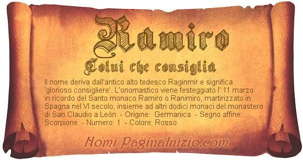 Nome Ramiro