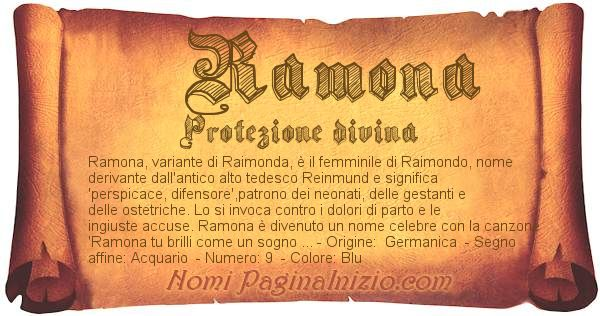 Nome Ramona