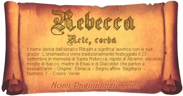 Nome Rebecca