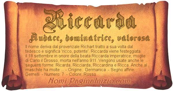 Nome Riccarda