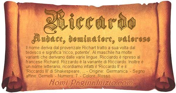Nome Riccardo