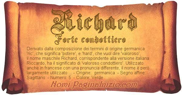 Nome Richard