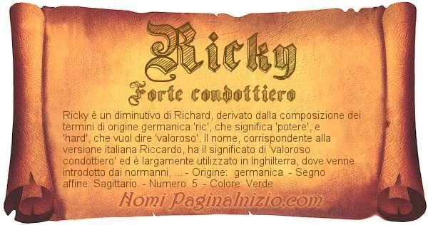 Nome Ricky