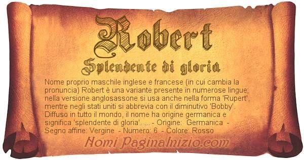 Nome Robert