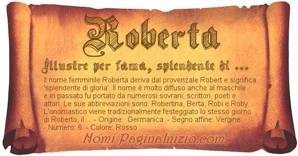 Nome Roberta
