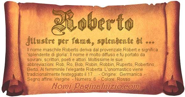 Nome Roberto